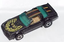 ORIGINAL Hot Wheels Flying Colors - Hot Bird Trans Am - Black - BWs - Metal Base