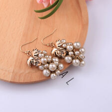 ed00196c 2018 New Cute Information Pearl Grape Beaded Dangle Drop Earrings Girls
