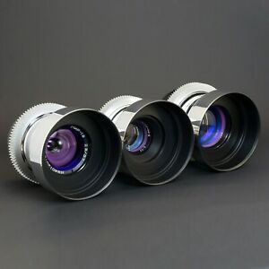 Silver Anamorphic Flare & Bokeh Set 37 58 85 Cine Lens mod Canon EF Sony E M4/3.