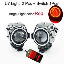 2pcs U7 125w Motorcycle LED Headlight Waterproof Spot Lamp Light Switch White