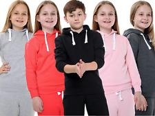 Unisex Boys Girls Plain Fleece Sweat Track Pants Lower Jogger Bottom Trousers