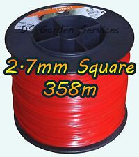 358m Original Stihl 2.7mm Cuadrado De Desbrozadora Cortadora Cortadora Cable de línea de alambre
