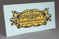 SYMPHONY WATER SLIDE DECAL to RESTORE GRAMOPHONE PHONOGRAPH