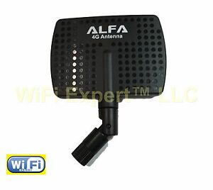 Alfa Wi-Fi 2.4GHz or 4G high gain directional panel antenna with RP-SMA Connectr