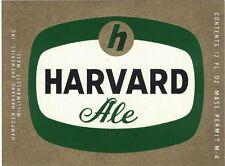 Havard Ale Label