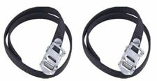 Heavy Duty Premium Bike Pedal Cycle Toe Straps Black Nylon - One Pair (2 straps)