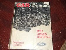 1987 FORD ESCORT TEMPO EXP MERCURY TOPAZ BODY CHASSIS ELECTRICAL SHOP MANUAL