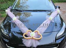 Dekorations-Set für Brautauto Hochzeit Autodeko Autoschmuck Rosa, AM001-018/AT