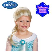 Disney Frozen Elsa Costume Platinum Blonde Irridiscent Wig Sparkles Girls Child
