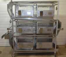 Lab Products Inc 6 Cage Excreta System SS Mobile Lab Animal Containment Unit