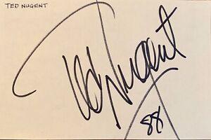 TED NUGENT / ROCK LEGEND GENUINE AUTOGRAPH 1988