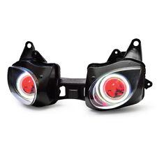 KT LED Headlight for Kawasaki Ninja ZX6R ZX-6R 2007-2008 Red