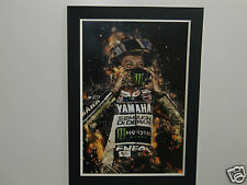 High Quality A2 poster print - Valentino Rossi on fire - moto GP 46