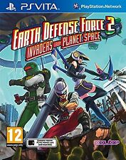 Earth Defense Force 2 invasores del planeta espacio para PAL PS Vita (nuevo Y Sellado)