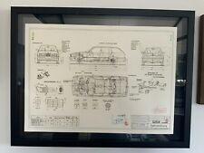 Limitierter ARTprint BMW E30  Touring Konstruktionszeichnung