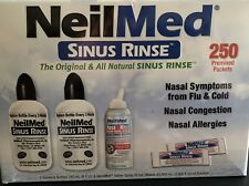 NeilMed Sinus Rinse Kit with 250 Premixed Packets