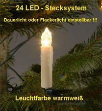 24 LED LICHTERKETTE CHRISTBAUMBELEUCHTUNG WEIHNACHTEN WEIHNACHTSBAUM KERZEN +++
