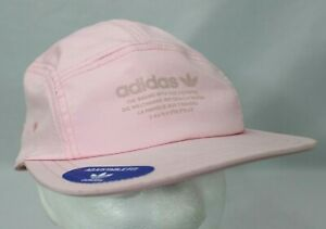 Adidas Unisex Relaxed 5-Panel Strapback Pink/White Adjustable Fit Hat Cap NWT