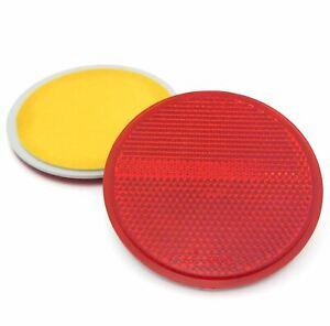 Runde Reflektoren - selbstklebend - E-geprüft - Rot - 70 mm - 2 Stück