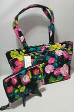 New SET Vera Bradley in HILO MEADOW Mandy Tote Bag & Turnlock Zip-around Wallet