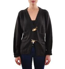 Damen-Pullover mit mittlerer Strickart und Knöpfen S