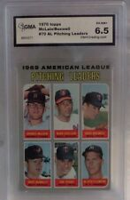 1970 TOPPS MCLAIN/BOSWELL AL PITCHING LEADERS CARD #70- GRADED 6.5 EX-NM+