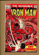Iron Man #13 - Cry Carnage - 1969 (Grade 7.0) Wh