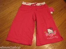 Girls Hello Kitty pink shorts Bermuda pants HK Garden Party CER 4 HK55390 NWT^^