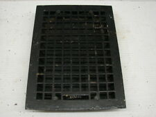 VINTAGE 1920S CAST IRON HEATING GRATE SQUARE DESIGN 15.75 X 12