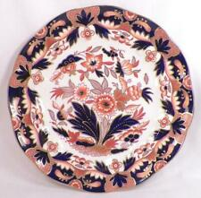 Booths Rajah Luncheon Plate Imari Silicone China Cobalt Blue Persimmon Gold