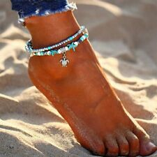 Boho Shell Beads Starfish Anklets For Women Layer Anklet Leg Bracelet Jewelry