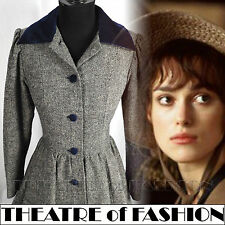 Vintage Laura Ashley manteau tweed Velours Victorien 40 S S M 10 8 12 38 36 40 Riding