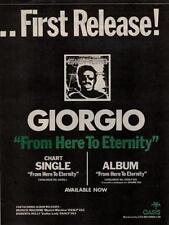 Giorgio Moroder UK LP/'45 advert