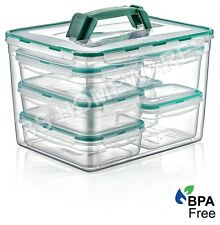 Plastic Clear Storage Fresh Box Combi Set 11L Liter Food Container With Lid New