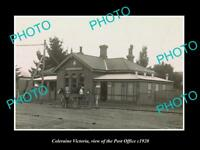 OLD LARGE HISTORIC PHOTO OF COLERAINE VICTORIA VIEW OF THE POST OFFICE c1920
