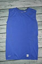 Nike Mens Pro Fitted Dri-Fit Compression Training Sleeveless Tight Shirt XL Blue