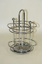 Rotating Vintage Retro Chrome Diner Style Kitchen Napkin Condiment Holder
