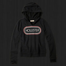 New Hollister By Abercrombie Women Sweater Embroidered Logo Graphic Hoodie NWT