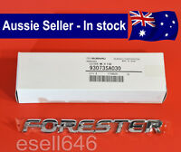 GENUINE SUBARU FORESTER MY03 - MY08 TAILGATE REAR CHROME BADGE EMBLEM 93073SA030