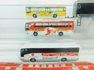 BO895-0,5# 3x Rietze H0/1:87 Bus MB: Gisler+1. FC Nürnberg+Integro, s.g.+1x OVP