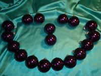~ 18 alte Christbaumkugeln Glas lila violett glänzend Weihnachtskugeln