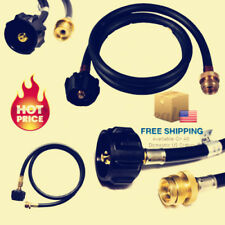 Propane Adapter Hose LP Tank to Gas BBQ Grill Camp stoves 4ft Portable Tabletop