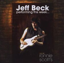 JEFF BECK PERFORMING THIS WEEK LIVE AT RONNIE SCOTTS 2008 CD ROCK NEW