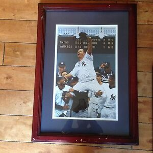David Wells Signed New York Yankees Perfect Game Baseball Custom Framed