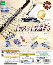 New Epoch Musical Instruments Capsule Toy Part 3 keychain Silver whole set of 5