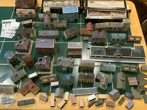 Large Collection of N Gauge Graham Farish Buildings, Houses, Stations etc