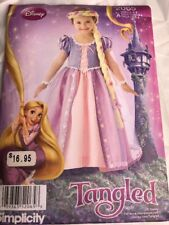 2065 Simplicity Sewing Pattern For A 3-8 Year Old Princess Costume Tangled