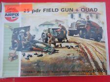 Airfix  25 pdr field gun and quad plastic kit   HO/OO