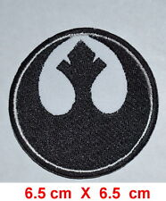 Rebel Alliance BLACK ROUND EMBROIDERED Iron on PATCH