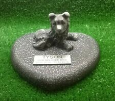 Dog Large Pet Memorial/headstone/stone/grave marker/memorial with plaque b w 1